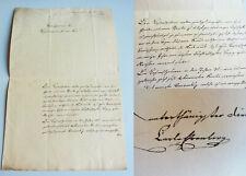Brief BÜNDHEIM (Harzburg) 1841: Carl EHRENBERG (Apotheker?) gratuliert Oberst