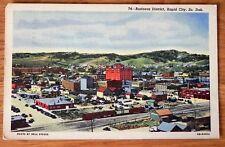 Vintage Postcard Business district, Rapid City, So, Dak. 1949, F224