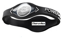 BLACK POWER BALANCE NEGATIVE ION ENERGY HEALTH BRACELET BAND - SIZE EXTRA LARGE