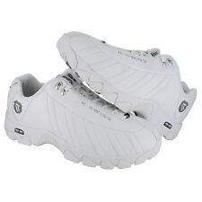 K-Swiss ST329 Wide 03426-129 White Black Silver Mens US size 11, UK 10