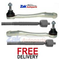 FOR PEUGEOT 207 06-13 FRONT OUTER STEERING TRACK ROD ENDS & INNER TIE RODS SET