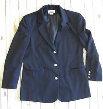 Womens Lined Blazer 12 Wrangler Riata Western Rodeo Cowgirl Navy Sport Jacket
