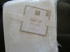Pottery Barn Teen Favorite Tee sheet set white full New