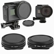 52mm UV+CPL Diving Lens Filter AGC Kit & Adapter & Lens Cover for Gopro Hero 5