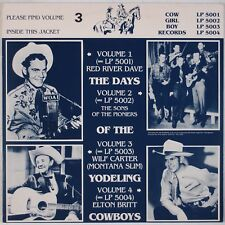 DAYS OF YODELING COWBOYS: Wilf Carter Montana Slim COW GIRL BOY Imp. LP Country