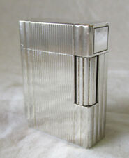 VINTAGE S.T. DUPONT PARIS SILVER LIGHTER Original Nice Deco Style Old Neat