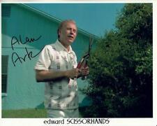 ALAN ARKIN signed EDWARD SCISSORHANDS 8x10 w/ coa HEDGE CLIPPERS CLOSEUP SCENE