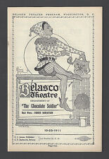 """Oscar Straus """"CHOCOLATE SOLDIER"""" Charles Purcell 1911 Washington, D.C. Playbill"""