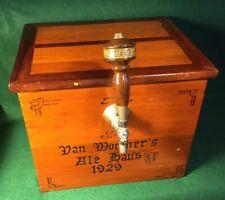 Vintage Wooden Beer Cooler Jockey Box Van Wormer's Ale Haus 1929