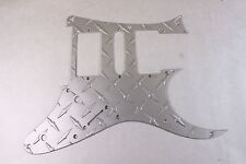 Satin Aluminum Diamond Plate front route Guitar Pickguard fits RG550 Jem RG