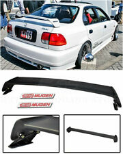 EOS For 96-00 Honda Civic Sedan | Mugen Style Rear Wing Spoiler w/ Red Emblems