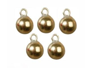 Dolls House 6 Gold Baubles Miniature Christmas Tree Ornaments Decorations 1:12