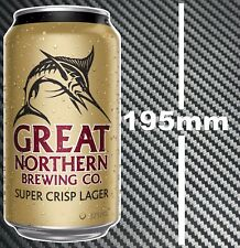 Great Northern Beer Can Sticker Toolbox Bar Camping Fishing Boat trailer Fridge