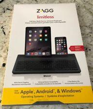 Brand New Black ZAGG Limitless Wireless Full Size Universal Bluetooth Keyboard