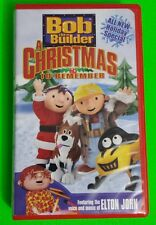 Bob the Builder A Christmas To Remember VHS 2003 Clamshell Holiday Elton John