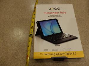 ZAGG Messenger Folio Case and Bluetooth Keyboard for Samsung Galaxy Tab A 9.7