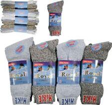 12 Pairs Mens Thermal Socks Outdoor Work  Thermal Socks   UK 6-11 GREY HIKE