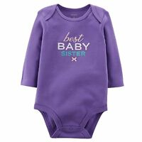 NEW Carter's Little Sister Purple Best Baby Sister Bodysuit Top NWT 3m 9m Girls