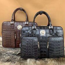 Business Mens Crocodile Leather Briefcase Bag Handbag Laptop Shoulder Bag #BD193