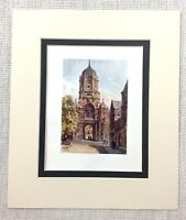 1906 Antico Stampa Oxford Christchurch Tom Torre Gateway Inglese Architettura