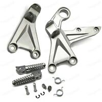 Motorbike Silver Front Foot Pegs Bracket Fit For Honda CBR1000RR 2008-2015 New