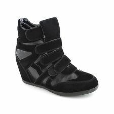 Women Fashion Casual high top hidden Wedges Heels Trainers Sneakers Shoes S11