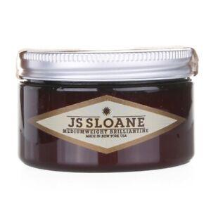JS Sloane Medium Weight Brilliantine Pomade, 4 oz