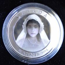 2014 HAUNTED CANADA 25 CENTS LENTICULAR COIN GHOST BRIDE - HALLOWEEN THEME