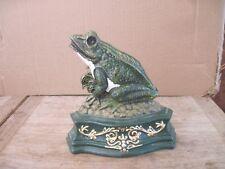 """Cast Iron Frog Door Stop, Dist. by Upper Deck in Fairhaven, Mass. approx.7""""x7"""""""