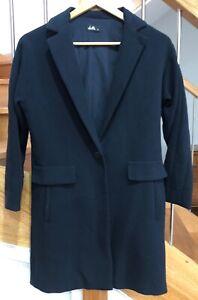 Dotti navy crombie coat
