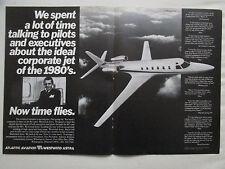 12/1981 PUB ATLANTIC AVIATION WESTWIND ASTRA BUSINESS JET AVION ORIGINAL AD