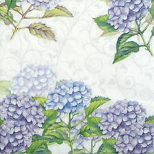 20x Lunch Paper Napkins Serviettes Party, Decoupage - Hortensia