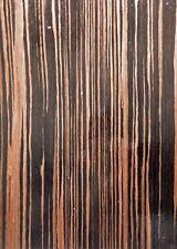 "Ebony Macassar composite wood veneer 24"" x 96"" with paper backer 1/40"" thick EFW"