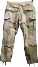 More details for combat trouser usa bdu surplus rip stop pant tri-colour camo large unissued new