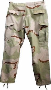 Combat Trouser USA BDU Surplus Rip Stop Pant Tri-colour Camo Large Unissued NEW
