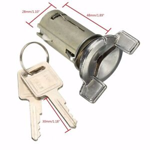 LC1426 Car Ignition Key Switch Cylinder Lock for Chevy/Buick/GMC Chrome Silver