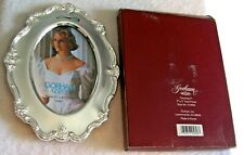 """Gorham Silver Plate 3"""" X 5"""" Oval Photo Frame In Box"""