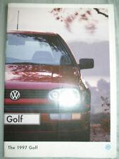 VW Golf range brochure 1997 pun Mar 1997