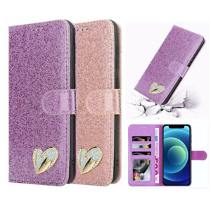 Bling Glitter Leather Wallet Flip Case Cover For iPhone 12 11 Pro Max SE 2 6 7 8