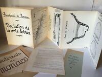 documents d'architecture Souterrain de Monaco plan de déviation voie ferrée 1958