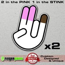 SHOCKER JDM sticker decal vinyl funny stickerbomb hand