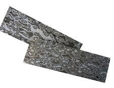2pcs Knife Handle Scale 3D Damascus Grain Micarta Material Sword Slab 160X50X10
