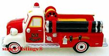 Dept. 56 Village Fire Truck Blinking Beacon & Working Headlights Retired 54952