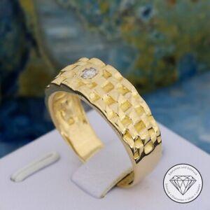 SONDERAKTION WERT 890,- Herren Ring 585 / 14k Gold Zirkonia xxyy