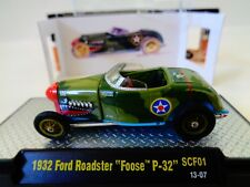 M2 MACHINES  FOOSE  1932 FORD ROADSTER P-32  w/CASE  WALMART  SCF1  -1:64 -NIP