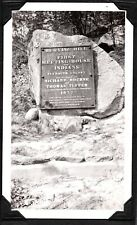 VINTAGE PHOTOGRAPH '34 INDIAN BURYING HILL PLAQUE BOURNE MASSACHUSETTS OLD PHOTO