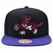 Toronto Raptors NBA TUFF WELD Snapback Mitchell & Ness Hat - Black/Purple