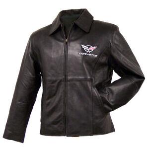 *SALE* Ladies Princess Cut C5 Corvette Black Lambskin Jacket -Size MEDIUM *SALE*