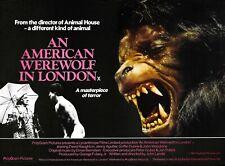 "An American Werewolf in London 1981 repro UK quad poster 30x40"" John Landis rare"