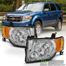 2008-2012 Ford Escape Headlights Headlamps Light 08-12 Left+Right Factory Style